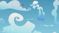 Twilight and Spike behind a cloud S5E25
