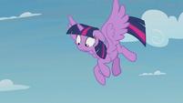 Twilight realizes Spike is still falling S5E25