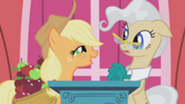 201px-Applejack on stage with Mayor Mare S1E04