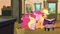Apple Bloom hugging Pinkie S4E09