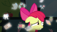 Apple Bloom surrounded by floating cutie marks S5E4