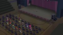 Cheerilee and students in darkened gym CYOE2c