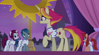 Fire Flare and her troupe at rehearsal S9E17