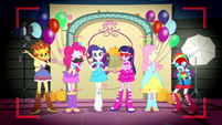 Mane Six posing with various photo props SS2