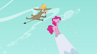 Pinkie Pie and Cranky on snowy mountain S02E18