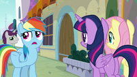 """Rainbow """"not many Pegasi wanted to help"""" S9E24"""
