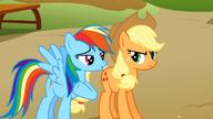 S01E13 Rainbow Dash i Applejack rozmawiaja