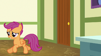 Scootaloo trotting back to her seat S9E12