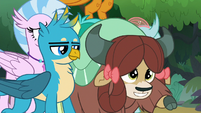 Yona rearing her hooves to stampede S8E9