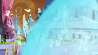 Crystal Heart's magic washes over the Empire S9E1