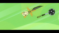 Daring Do dodging while flying S4E04