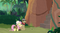 Fluttershy giving support to Biff S9E21