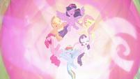 "Mane Six declaring ""friendship is magic!"" S9E2"