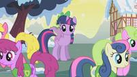 Ponies walk away from Twilight S1E11