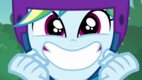 Rainbow Dash grinning with excitement EGDS32