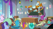 Rockhoof jumping from the desk S8E21