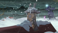 Yet to Come and Snowfall look at a buried house S06E08