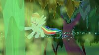Geyser blasts water up before Rainbow Dash S8E17
