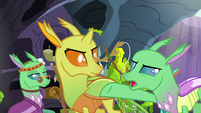 "Green Changeling ""little changelings to growl and hiss!"" S7E17"