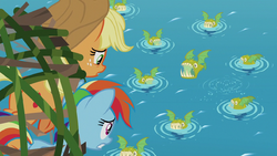 Large group of bite-acudas under Rainbow and AJ S8E9.png