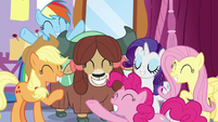 Main ponies so proud of Yona S9E7