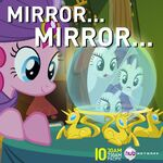 Pinkie Pie looking into crystal ball promotional S4E4