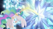 Princess Celestia using magic on tree S4E02.png