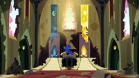 Princess Luna in the old castle throne room S5E13