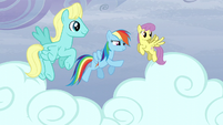 Rainbow points Dewdrop to a direction S5E5