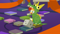 Sunburst wearing a dragon costume S7E24