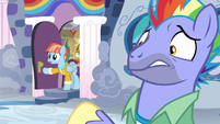 Windy Whistles comes out of the house S7E7