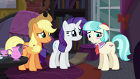 Coco Pommel blushing with embarrassment S5E16