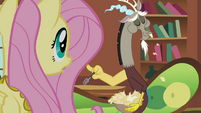 """Fluttershy and Discord """"are you eating paper?"""" S03E10"""