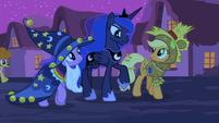 Luna walking with Twilight and Applejack S2E04