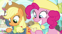 Pinkie Pie seeing who she picked MLPBGE
