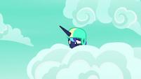 Princess Luna nervous in the clouds S9E13