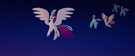 Queen Novo and Hippogriffs appear at the party MLPTM