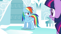 "Rainbow ""Celestia needed protective forces"" S4E21"