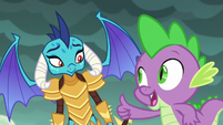 Spike giving Ember a thumbs-up S6E5