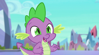 Spike hears Princess Cadance S6E16