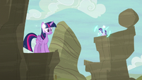 Starlight teleports onto a nearby cliff S6E21