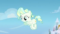 Young Vapor Trail blows a gust in Sky's direction S6E24