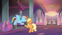 AJ and Rainbow argue until episode ends S8E9