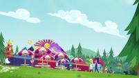 Applejack and Twilight at the music festival CYOE13