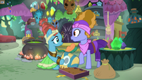 Meadowbrook and her mother hear a door knock S7E20