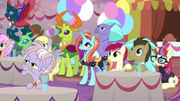 Ponies, changelings, and Hippogriffs at coronation S9E26