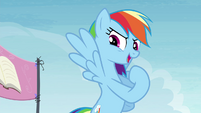 """Rainbow Dash """"I'm gonna be the first!"""" S4E22"""