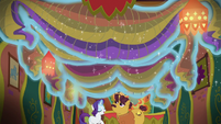 Rarity removes decorations from Tasty Treat ceiling S6E12