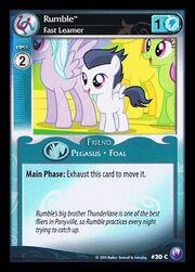 Rumble, Fast Learner card MLP CCG.jpg