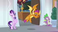 Smolder comes out of class with stuffy nose S8E15